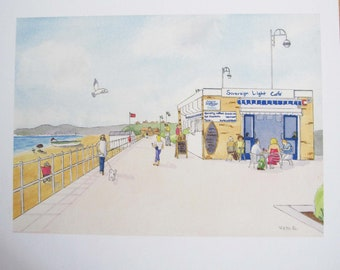Print of The Sovereign Light Cafe, Bexhill on Sea