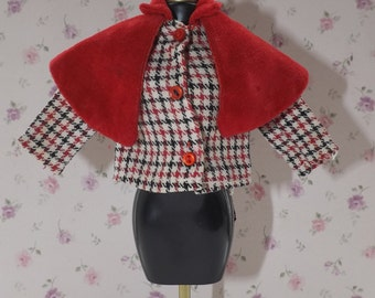 Thunderbirds Lady Penelope Caped Jacket.Fairylite Dolls Clothes. Gerry Anderson Thunderbirds
