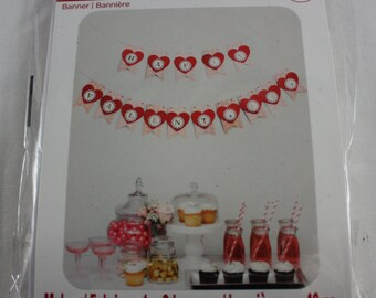Valentine banner etsy studio valentines banner kit heart banner do it yourself paper craft recollections brand new solutioingenieria Image collections
