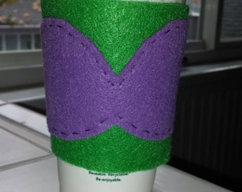 Ariel inspired travel cup cozy and travel cup