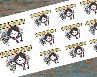 FIXER UPPER stickers, Fixer Upper Planner Stickers, HGTV Stickers, Joanna Gaines Stickers, Home Renovation Stickers (S017)