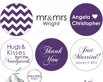 108 - Hershey's Kisses Sticker Labels - .75 inch Round