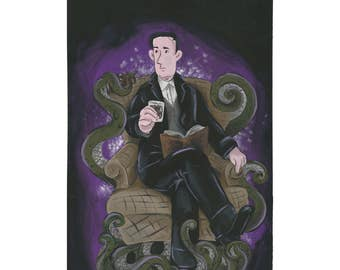 HP Lovecraft Call of Cthulhu Print