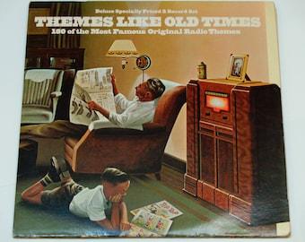 Themes Like Old Times - 180 of the Most Famous Original Radio Themes - Viva Records 1972 -Gatefold Vinyl 2LP Record Album - Radio Broadcasts