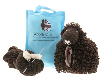 Black Welsh Mountain Sheep Tea Cosy Kit