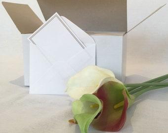 Mini White Envelopes 10 pieces