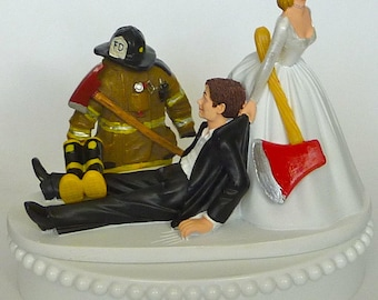 firefighter wedding cake toppers funny wedding cake topper firefighter fireman logo axe 14267