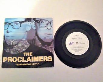 "THE PROCLAIMERS Sunshine on Leith 7"" Vinyl Single Record Chrysalis UK 1988"