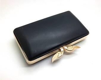 "7"" x 4"" (18cm x 10cm) box clutch frame with plastic covers & chain, purse bag DIY design hardware L40b"