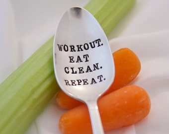 Workout. Eat Clean. Repeat. - Stamped Spoon - Fitness Motivation, Workout, Healthy Living, and Encouragement