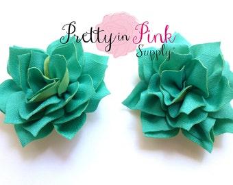 Light Teal Kanzashi Flower- You Choose Quantity- DIY Headband Supplies- Flower- Wholesale- By the Piece- Supply Shop- Applique- Prettyinpink