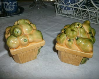 Basket of Pears Salt and Pepper Shakers