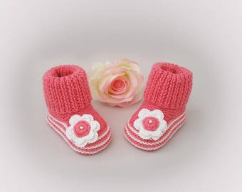 Baby girl, knitted baby girl, pink wild rose 0/3 months