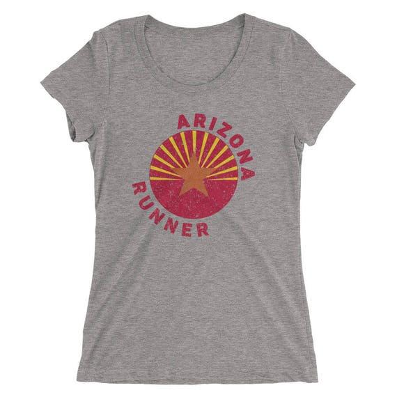 Women's Arizona Runner Triblend T-Shirt - Run Arizona - Women's Short Sleeve Running Shirt