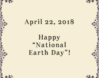 """Glücklich """"Nationalen Earth Day""""!"""