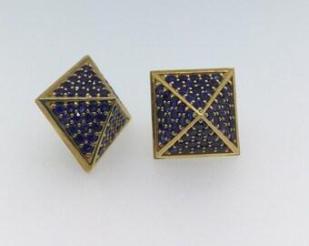 Designer Pyramid Stud Earrings