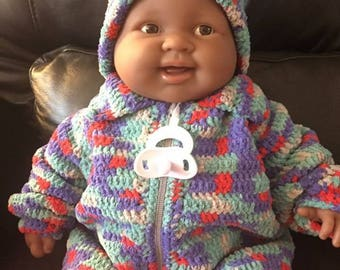 Crochet baby set sweater and hat
