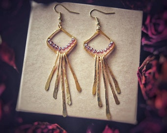 Handmade Hammer Touched Earrings