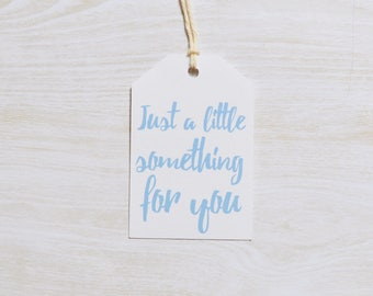 Just A Little Something For You Gift Tag, Large Gift Tags, Christmas Gift Tag, Pack of 10, 20, 50, 100 or custom sized packs available