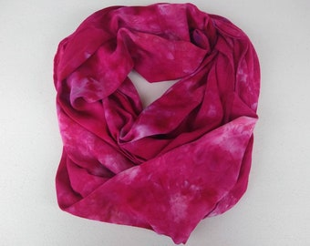 Hand Dyed Scarf - Rayon Scarf - Pink Rayon Scarf