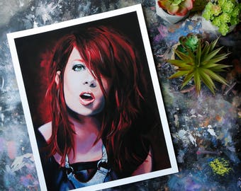 Shirley Manson, Fine Art Print, Glicee Print, Oil Painting, Pop Art, Garbage