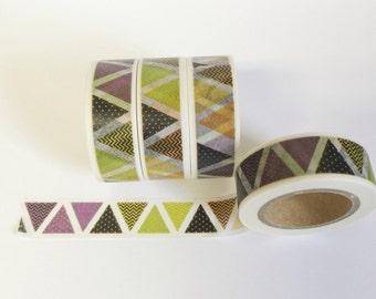 Washi Tape Triangles Geometric Shape Decorative Tape 15mm / 10 Yards