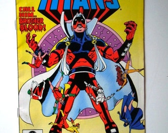 SALE * Comic Book The New Teen TITANS 1981 DC Comics Inc Vol 3 No 22 Call Him Brother Blood Vintage Willy Wonka Ad Kid Flash Raven Robin