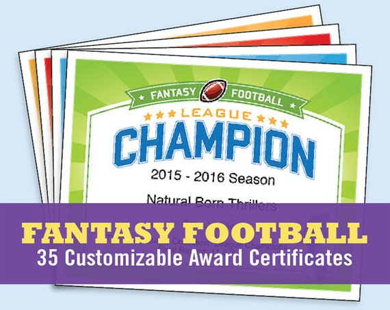 Fantasy football certificates fantasy football trophy for Biggest loser certificate template
