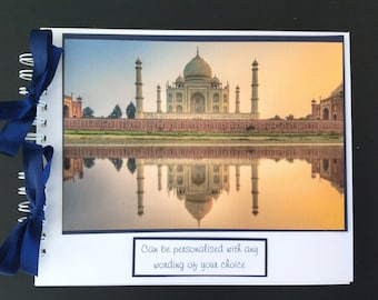 "Personalised INDIA  Holiday Travel - Photo Album - Scrapbook - Memories Book - Photo Book 10"" x 8"""