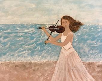 Serenade by the Sea - 6 x 6
