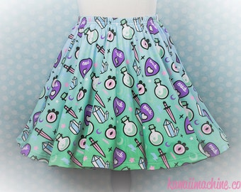 Oracle, Skater Skirt, Pastel Goth, Fairy Kei, Plus Size, Soft Grunge, Kawaii, Occult Clothing