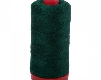 Aurifil 12wt Wool Thread - Wool Lana Acrylic/Wool Embroidery & Quilting Thread 12 wt - 50% wool - Forest Green 8891