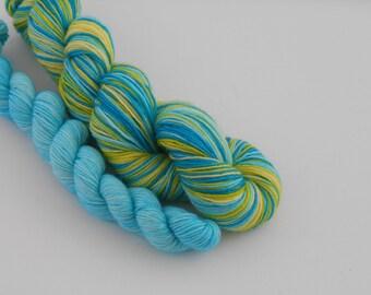 LOVE SOCK self-striping, 018, merino nylon sock yarn,100g