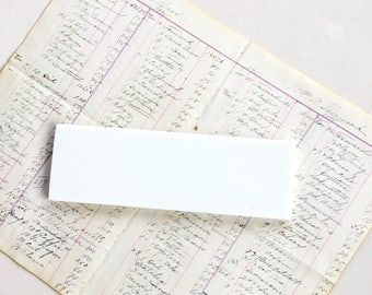 National Cash Register Italian Marble Coin Plate Salvage White