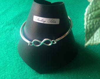 Hinged Sterling Silver Bangle