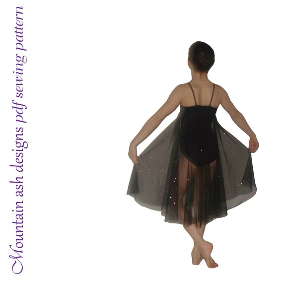 Olivia pdf sewing pattern gymnastics ballet dance leotard