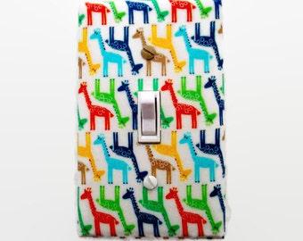 Giraffe Light Switch Cover - Giraffes Switch Plate - Jungle Nursery Decor