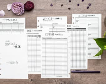 FINANCE Junior Circa Budget Inserts, Junior Arc Finance Kit, Financial Planning, Debt Snowball, Half Letter Disc Bound Planner Inserts