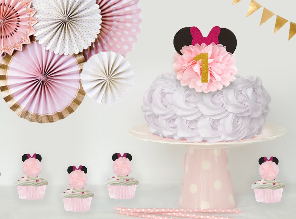 Minnie Mouse Birthday Decoration Minnie Mouse Birthday Cake Topper
