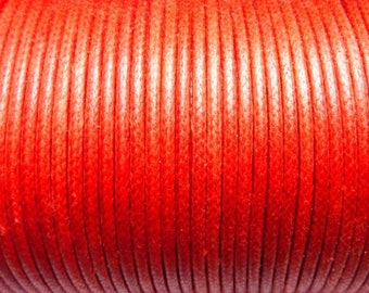 Cord cotton 5 meters of 1.5 mm red CH05