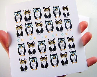 Owls and Pussycats Congratulations Greeting Card