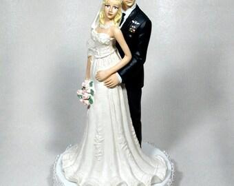 Airforce Enlisted Wedding cake topper Bride 49AFEB