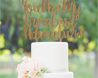 Bamboo Cake Topper wedding engagement party
