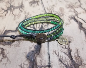 Go Green adjustable 3x leather wrap