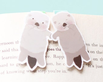 Sea Otter Magnetic Bookmarks (Mini 2 Pack)