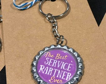 The Best SERVICE PARTNER Ever Key Chain