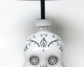 Kah Tequila TOUCH Lamp,Kah Skull,Kah Skull Lamp,Kah Skull Light, Bottle, light,wine,man cave,