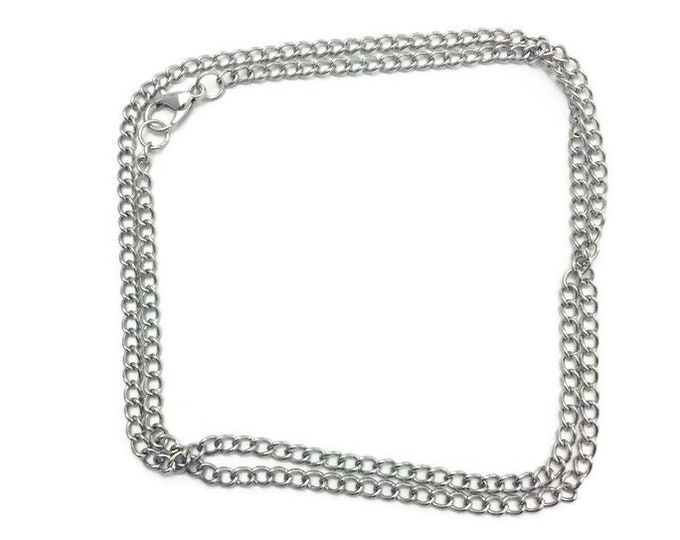Link Chain for Necklaces, Silver Chain for Pendants, Bulk Silver Chains, Wholesale Price Silver Chains, Silver Plate Chain, 20 -32 inches