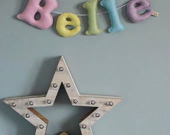 Personalised bunting - Name garland - personalised garland - rainbow name garland - handmade - nursery decor - felt - MADE TO ORDER