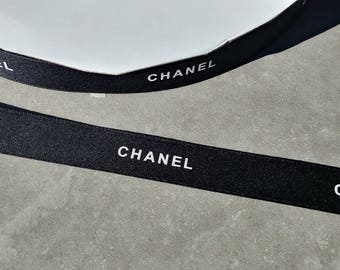 Sale!  2 yards Authentic New CHANEL Black Ribbon